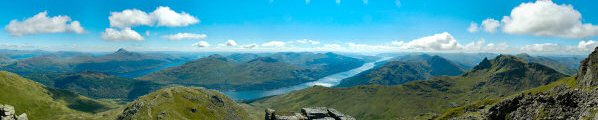 The Arrochar Alps from the summit of Ben Narnain