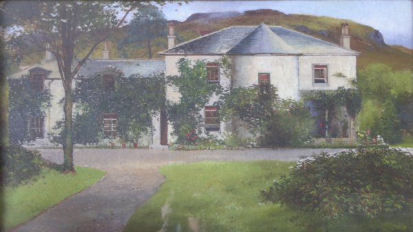 Painting by Barclay Henry of Old Tarbet House (now demolished)