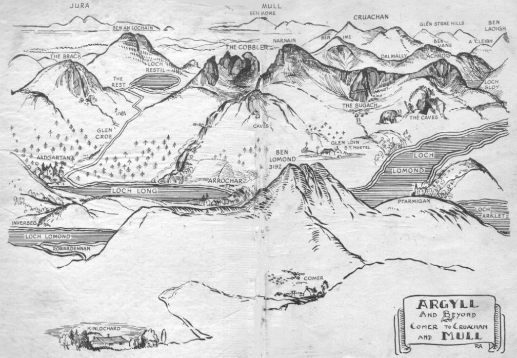 Ben Humble MBE's drawing of Arrochar