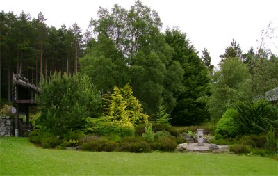 Ben Humble's Alpine Garden at Glenmore Lodge gardens, Aviemore