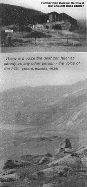 there is a voice the deaf can hear as clearly as any other person - the voice of the hills - Ben H Humble 1934