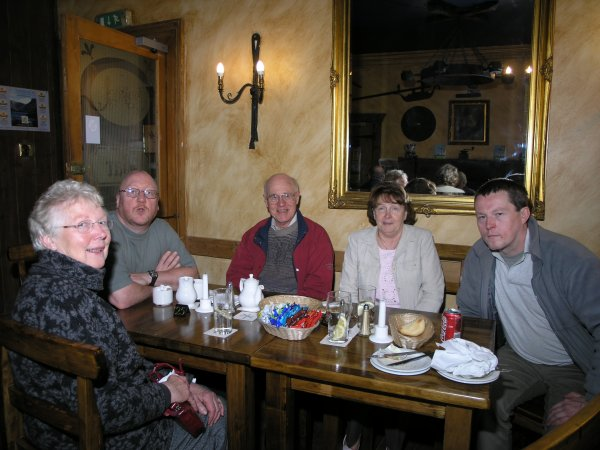 Roy humble with members of the Arrochar Heritage Group
