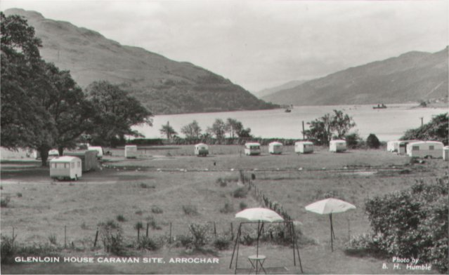 Glenloin Caravan Site Post Card - Photo taken by Ben Humble from the area of Glenloin House