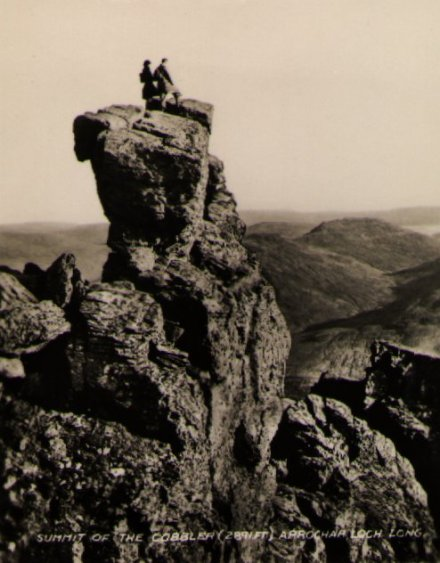 Climbers on Cobbler Summit